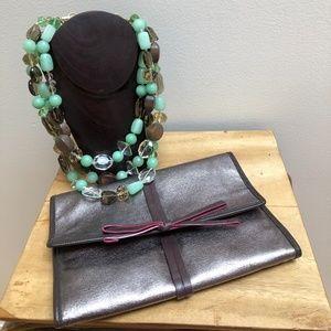 Stella & Dot Stone Bib Necklace in Carry Case